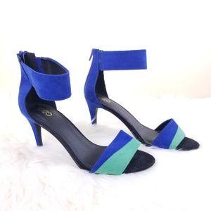 Cato Womens Blue & Green High Heel